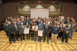 Bei der Verleihung vom Bürgerpreis 2014 im Rathaus, Münster