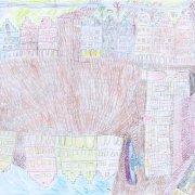 56 x 42 cm, Bunt- und Bleistift auf Papier