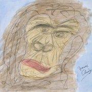 <p>30 x 30 cm, Aquarell, Bleistift auf Papier</p>
