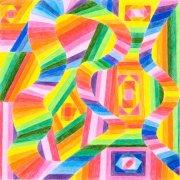 <p>30 x 30 cm, Buntstift auf Papier</p>