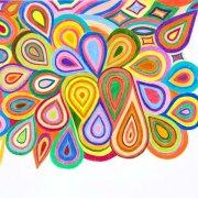 <p>42 x 29,5 cm, Buntstift auf Papier</p>