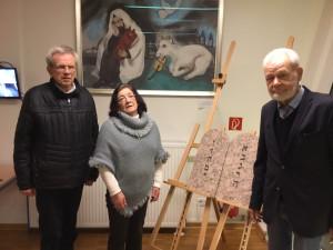 v. l. n. r. Domkapitular Dr. Ferdinand Schumacher, Ruth Frankenthal und Pfarrer Jürgen Hülsmann. Foto: Stefan Querl