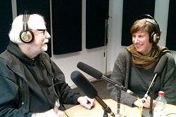 Volker Maria Hügel und Saskia Zeh von der GGUA-Flüchtlingshilfe