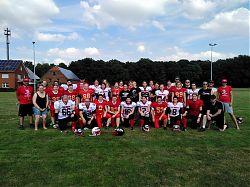 Das Footballteam der Münster Mammut Ladies