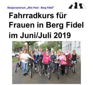 Fahrradkurs für Migrantinnen in Münster 2019
