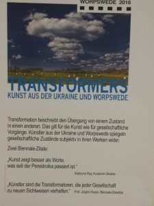 Plakat aus Worpswede