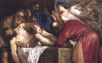 (Bild: Tizian, Grablegung, um 1560)