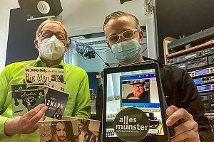 """Ralf Clausen und Thomas Hölscher präsentieren bei """"Easy Listening - Musik am Feierabend"""" Musik aus Münster - so wie auch im online-magazin """"ALLES MÜNSTER"""" (Foto: Thomas Hölscher)"""