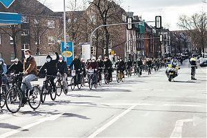 Am 25.6. findet der Klimastreik wieder als große Fahrrad-Demo statt. (Foto: Marlena Grab / Fridays for Future Münster)