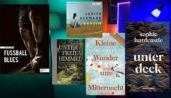 Von den Wäldern Schwedens bis nach Japan kriecht der LeseWurm im Juni. (Foto: Volker Stephan, Cover: Edel, Kein & Aber, Randomhouse)