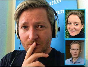 Andre Schuster (großes Bild), Katrin Hermsen  und Prof. Dr. Michael Wrase.