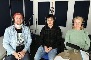 Andre Schuster mit Mohammad Zaki Mohammady und Verena Vielhaben.