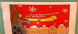 Die Türmerin von St. Lamberti wurde auch schon auf einer weihnachtlichen Postkarte verewig