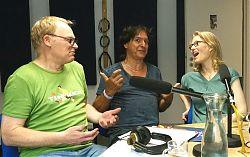 Thomas Nufer (Mitte) mit Ralf Clausen und Uschi Heeke
