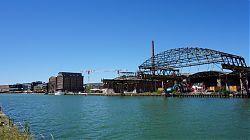 Die Osmohallen an Münsters Hafen werden gerade abgerissen