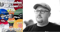 """Mit dem LeseWurm im Gespräch: Tim Hackemack, Initiator des """"Plattenladens für einen Tag"""". (Fotos: © Tim Hackemack)"""