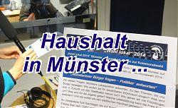 """Wahl lokal 2014 - Kritische Fragen zum Thema """"Stadthaushalt"""" an die Ratsparteien ... (Foto: medienforum münster e. V.)"""