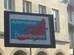 Am 3.11. protestierten 1.600 Menschen vor dem Rathaus, während drinnen die AfD ihren Kreisparteitag abhielt.