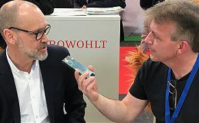 Leipziger LeseWurm-Gespräch über Londoner Todesfälle: Autor Simon Beckett (links) und Volker Stephan. (Fotos: Volker Stephan)