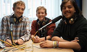 Carsten Schaller (Umweltphysiker und Mitglied Scientist for Future Münster), Nico Wendker und Ernst Wißmann (Foto: Klaus Blödow)