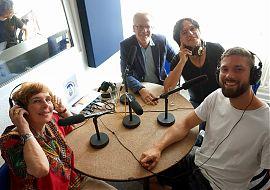 Am Studiotisch (v.l.n.r.): Brigitte Thomas, Dr. Jens Dechow, Thomas Nufer und David Westphal. (Foto: Gabi: Fortak)