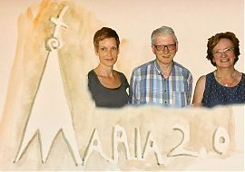 Ruth Koch und Sigrid Kammann von Maria 2.0 bei MORE MARTIN. (Bildgestaltung: Theo Ostermann)