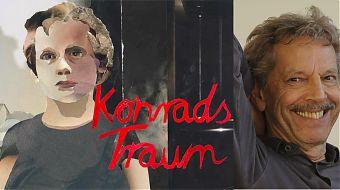 Professor Jens Thiele spricht im LeseWurm über sein Bilderbuch Konrads Traum. (Fotos: Jens Thiele, Verlag)