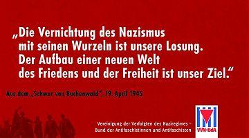 """Der """"Schwur von Buchenwald"""" (Quelle: VVN/BdA)"""