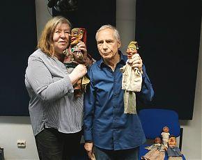 Renate Rave-Schneider mit Wilfried Plein vom  Charivari-Theater (Foto: Klaus Blödow)