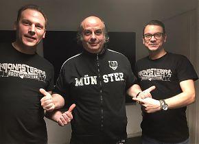 Jens Ahmann (li.) und Maik Rosenberg (re.) vom MONASTERIA ROCK FESTIVAL bei TALK HEAVY (Foto: Klaus Blödow)