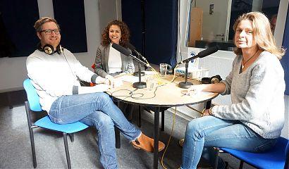 Andre Schuster, Hêvron Ala und Susanne Wessels (Foto: Hanna Wiedenhaus)