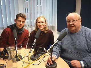 Steffen Lambrecht und Marlena Grab mit Moderator Gotwin Elges (Foto: Klaus Blödow)
