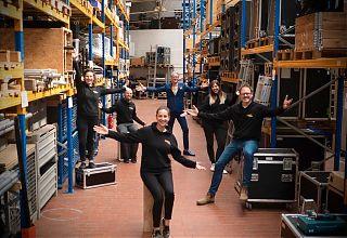 Die Culture Club Münster- Crew mit Steffi Köhler, Adrian Kantel, Isabelle Bettmer, Adam Riese, Ida Feldmann und Oliver Pauli. (Foto: Michel Greulich)