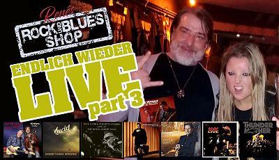 """Vor allem Konzerte auf der Jovel Outdoor-Bühne stehen diesmal im Mittelpunkt bei """"Renés Rock- und Blues-Shop"""". (Bildgestaltung: René Back)"""
