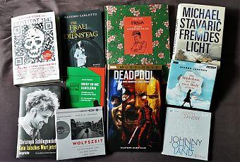 Der literarische Herbst wird politisch, auch im LeseWurm. (Foto: Volker Stephan, Cover: Verlage)